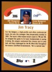 2002 Topps #306  Jim Tracy  Back Thumbnail
