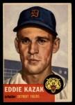 1953 Topps #194  Eddie Kazak  Front Thumbnail
