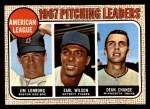 1968 Topps #10 ^COR^  -  Dean Chance / Jim Lonborg / Earl Wilson AL Pitching Leaders Front Thumbnail