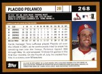 2002 Topps #268  Placido Polanco  Back Thumbnail