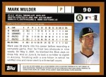 2002 Topps #90  Mark Mulder  Back Thumbnail