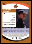 2002 Topps #321  Napoleon Calzado   Back Thumbnail