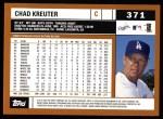 2002 Topps #371  Chad Kreuter  Back Thumbnail