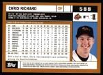 2002 Topps #588  Chris Richard  Back Thumbnail