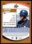 2002 Topps #312  Raymond Cabrera   Back Thumbnail