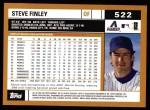 2002 Topps #522  Steve Finley  Back Thumbnail