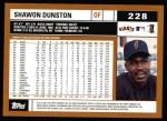 2002 Topps #228  Shawon Dunston  Back Thumbnail