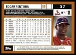 2002 Topps #37  Edgar Renteria  Back Thumbnail