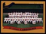 2002 Topps #667   St. Louis Cardinals Front Thumbnail