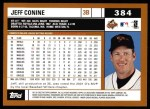 2002 Topps #384  Jeff Conine  Back Thumbnail