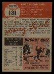 1953 Topps #131  Harry Byrd  Back Thumbnail