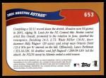 2002 Topps #653   Houston Astros Back Thumbnail