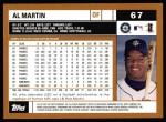 2002 Topps #67  Al Martin  Back Thumbnail