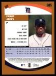 2002 Topps #685  Pablo Arias   Back Thumbnail