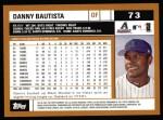 2002 Topps #73  Danny Bautista  Back Thumbnail