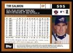2002 Topps #595  Tim Salmon  Back Thumbnail