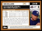 2002 Topps #248  Ron Belliard  Back Thumbnail