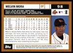 2002 Topps #98  Melvin Mora  Back Thumbnail