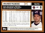 2002 Topps #521  Orlando Palmeiro  Back Thumbnail