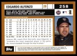 2002 Topps #258  Edgardo Alfonzo  Back Thumbnail