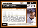 2002 Topps #47  Mark Kotsay  Back Thumbnail