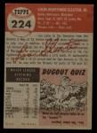 1953 Topps #224  Lou Sleater  Back Thumbnail