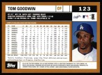 2002 Topps #123  Tom Goodwin  Back Thumbnail