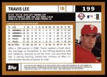 2002 Topps #199  Travis Lee  Back Thumbnail