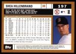 2002 Topps #197  Shea Hillenbrand  Back Thumbnail