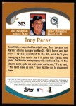 2002 Topps #303  Tony Perez  Back Thumbnail