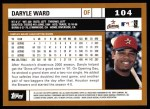 2002 Topps #104  Daryle Ward  Back Thumbnail