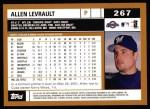 2002 Topps #267  Allen Levrault  Back Thumbnail