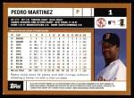 2002 Topps #1  Pedro Martinez  Back Thumbnail