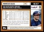 2002 Topps #637  Marcus Giles  Back Thumbnail