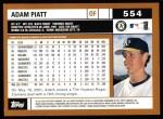 2002 Topps #554  Adam Piatt  Back Thumbnail