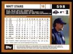 2002 Topps #598  Matt Stairs  Back Thumbnail