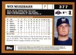 2002 Topps #377  Nick Neugebauer  Back Thumbnail