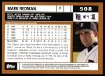 2002 Topps #508  Mark Redman  Back Thumbnail