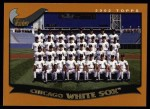 2002 Topps #647   Chicago White Sox Front Thumbnail