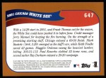 2002 Topps #647   Chicago White Sox Back Thumbnail