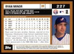 2002 Topps #227  Ryan Minor  Back Thumbnail