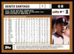 2002 Topps #68  Benito Santiago  Back Thumbnail