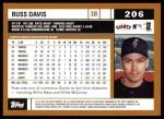 2002 Topps #206  Russ Davis  Back Thumbnail