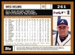 2002 Topps #261  Wes Helms  Back Thumbnail