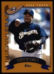 2002 Topps #316  Dionys Cesar   Front Thumbnail