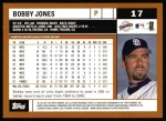 2002 Topps #17  Bobby Jones  Back Thumbnail