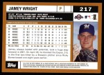 2002 Topps #217  Jamey Wright  Back Thumbnail