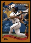 2002 Topps #424  Julio Franco  Front Thumbnail