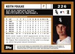 2002 Topps #226  Keith Foulke  Back Thumbnail