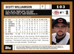 2002 Topps #103  Scott Williamson  Back Thumbnail